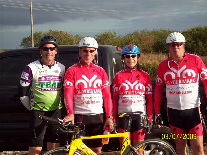 Bryan Merritt, Charlie Lockerson, Lynn Smythe, Rob Smythe at the March 8 15K time trial race.