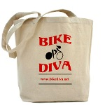 Bike Diva tote bag
